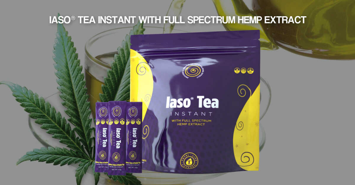 Iaso Tea Instant With Hemp Extract Complete Life Changes Usa